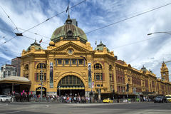 Flinders Street railway station in Melbourne Royalty Free Stock Photography