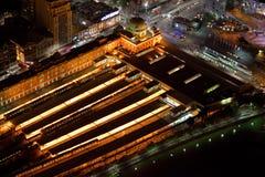 Flinders Street Station Aerial stock photos
