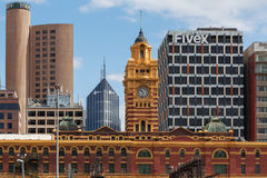 Flinders street station clock tower Royalty Free Stock Photos