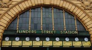 Flinders Street Station. Clocks, Melbourne, Australia royalty free stock image