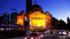 Flinders street station stock video