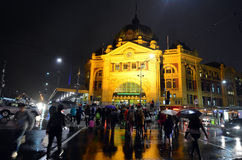 Flinders Street Station  - Melbourne Royalty Free Stock Photo