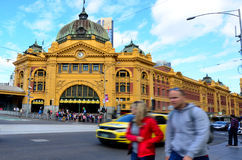 Flinders Street Station  - Melbourne Royalty Free Stock Images