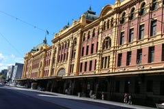 Flinders street station in melbourne,australia. Flinders street station  is taken in melbourne,australia Royalty Free Stock Photos
