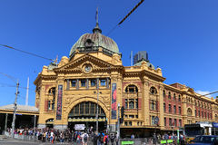 Flinders street station in melbourne,australia Royalty Free Stock Photo