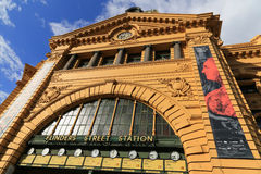 Flinders street station in melbourne,australia Stock Photos