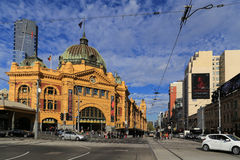 Flinders street station in melbourne,australia. Flinders street station  is taken in melbourne,australia Royalty Free Stock Photography