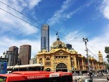 Flinders street station. Melbourne's flinders street station royalty free stock image