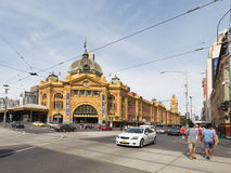 Flinders Street Station Station in Melbourne, Australia Royalty Free Stock Photography