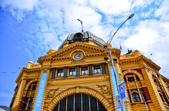 Flinders Street Station in a sunny day in Melbourne royalty free stock images