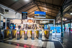 Flinders Street Station Turnstiles in Melbourne, Australia Royalty Free Stock Photo