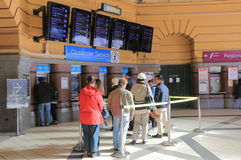 Flinders street train station Melbourne Australia. People queue at Flinders Street station in Melbourne Australia Stock Image