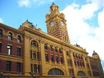 Melbourne Train Station Stock Photo