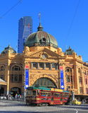 Flinders street train station tram Melbourne Australia Royalty Free Stock Photo