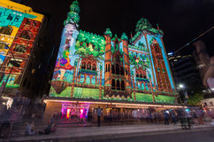 Flinders Street during White Night Royalty Free Stock Photos