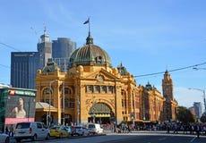 Flinders Uliczna Sztachetowa stacja, Melbourne Zdjęcia Royalty Free