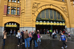 Flindersgatastation - Melbourne Fotografering för Bildbyråer