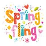 Fling весны иллюстрация вектора