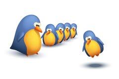Fling do pássaro ilustração royalty free
