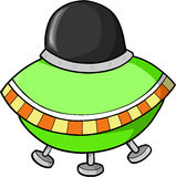 Fling Saucer. Green Fling Saucer Vector Illustration Royalty Free Stock Photo