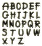 Flint alphabet Royalty Free Stock Images