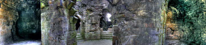 Flint Castle-Interior Stock Photography