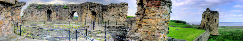 Flint Castle - Panorama Stock Photography