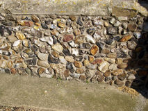Flint in church wall Royalty Free Stock Photography
