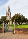 Flint church in Woolpit Suffolk Royalty Free Stock Images