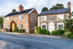Flint Cottages em Norfolk imagem de stock royalty free