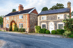 Flint Cottages in Norfolk Royalty Free Stock Image