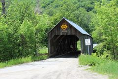 Flint Covered Bridge. Built in 1845 in Tunbridge, Vermont royalty free stock images