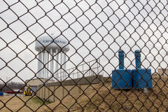 Flint Michigan Water Tower Fotografia Stock Libera da Diritti
