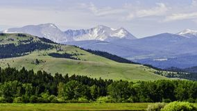 Flint Mountain Range of the Rockies, Montana. From the Deer Lodge side looking south stock image
