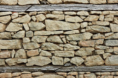 Flint and stone wall Stock Image