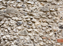 Flint stone wall Stock Photo