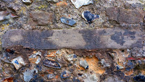 Flint and stone wall detail Royalty Free Stock Photos