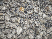 Flint stone wall Royalty Free Stock Photos