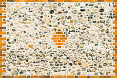 Flint stone wall Royalty Free Stock Photography
