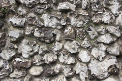 Flint stone wall texture Stock Images