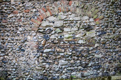 Flint wall from Norfolk, England. Royalty Free Stock Photo
