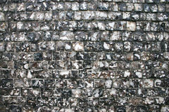 Flint Wall texture. Full-frame texture shot of a traditional flint wall as commonly found throughout Europe Stock Photo
