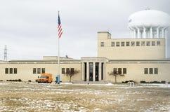 Flinta Michigan: Stad av Flint Water Plant Royaltyfria Foton