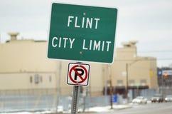 Flinta tecken för Michigan stadsgräns Royaltyfri Foto