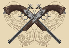 Flintlock πιστόλι Στοκ Φωτογραφία