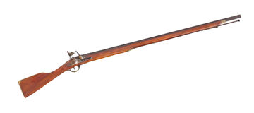 Flintlock musket rifle isolated Royalty Free Stock Photography
