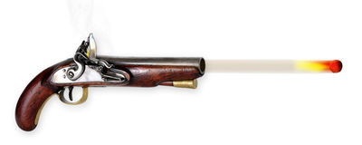 Flintlock Pistol. Stock Images