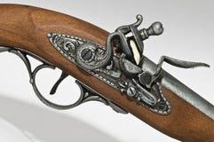 Flintlock Pistol. Detail of firing mechanism and trigger Stock Photo