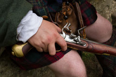 Flintlock pistol Stock Image