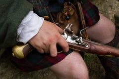 Flintlock pistol Stock Image